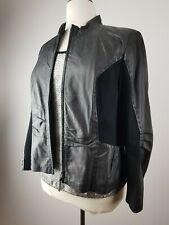 Bonita weiche Damen Lederjacke Biker Jacke Jacket Leather Coat Schwarz Gr 46 XL