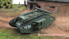 1/72 Mark Mk IV Male F56 British Heavy Tank WWI 1916 Diecast Model Fabbri New