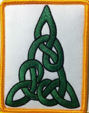 CELTIC CHRISTMAS TREE Iron-On Patch Tactical Morale Travel Emblem Gold Border