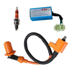 Racing Ignition Coil + Spark Plug + CDI Box For GY6 50cc-150cc Sctooer 4-Stroke