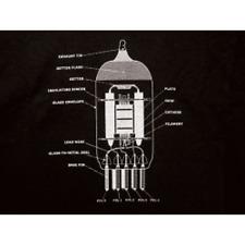 Vintage Radio Tube 12AX7 T-Shirt Size X-Large Black