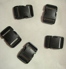 "5 x New Fastex Side Release Buckle Black (For 50mm 2"" Molle Strape)"