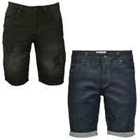 Mens Denim Shorts Only & Sons Ripped Distressed Regular Jeans Half Pants
