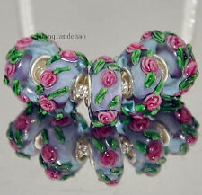 5pcs MURANO Lampwork charm Beads fit 925 silver European Bracelet Chain a70
