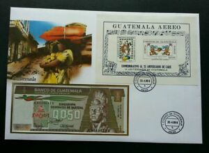 [SJ] Guatemala Daily Life Traditional Dance 1988 Culture FDC (banknote cover)
