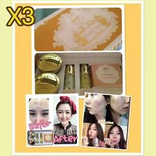 X3 Freshy face GOLD SET acne & blemish treatments whitening and brightening