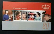 Gibraltar HM Queen Elizabeth II's 80th Birthday 2006 Royal Famous (ms A) MNH