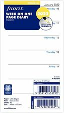 More details for filofax 2022 personal size diary week on one page insert refill 22-68426