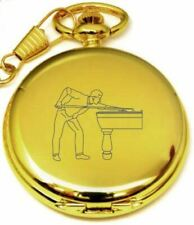 PERSONALISED GOLD SNOOKER POCKET WATCH PW56