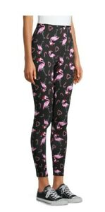 No Boundaries Juniors Pink Flamingos/Candy Canes Ankle Leggings, XXXL/3X (21)