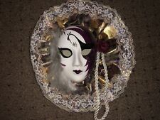 Lady Face Mask Wall Hanging Decor