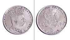 COLONIA ERITREA - UMBERTO I RE D'ITALIA - TALLERO LIRE 5 - 1891 -RICONIO D'EPOCA
