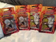 Bandai Naruto Lineage of the Legends TCG Blister Booster Box 4 Pack Lot Sealed