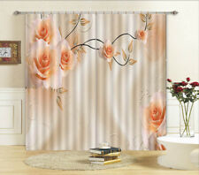 Tender Pink Roses 3D Curtain Blockout Photo Printing Curtains Drape Fabric