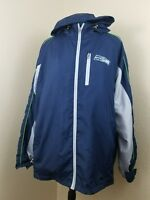 NFL Seahawks XL Jacket Windbreaker Adjustable Full Zip Long Sleeve Hooded  S3-24