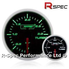 52mm Prosport Super Green White Turbo Diesel 3 Bar Boost Gauge Kit - TDI DIESEL