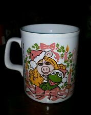 1979 Kermit Mrs. Piggy Jim Hanson Christmas coffee mug