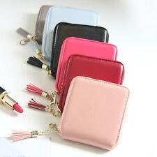 Mode Damen Mini Leder Quaste Handtasche Portemonnaie Kleine Geldbörse Zip