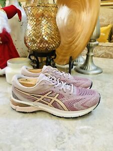 Asics Womens GT 2000 8 1012A591 Pink Running Shoes Lace Up Low Top Size 8.5