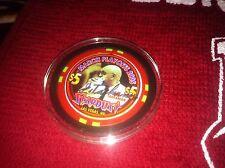 Stardust 2005 Limited UNLV Jerry Tarkanian Autographed Vegas Casino Chip RARE!