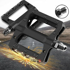 Road Mountain Bike Pedals Flat Wide Platform Sealed Bearing 9/16 in For MTB BMX