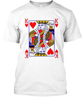 King Of Hearts Playing Card Hanes Tagless Tee T-Shirt