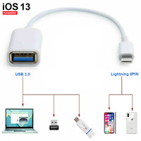✅8pin Lightning iOS13 auf USB 3.0 Buchse Adapter OTG Kabel Stick iPhone 5,6,7,8✅