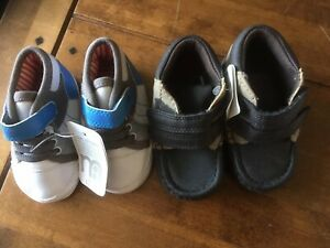 2 Pairs Of Baby Boy Pram Shoes Brand New From Mothercare Size's 0 & 1