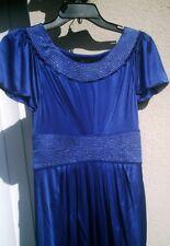 SILKY Jersey DRESS, Royal Blue w Silver Threading, s/s, 2, BCBG Max Azria, NEW