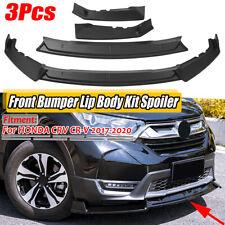 For Honda CRV CR-V 17-20 Front Bumper Lip Splitter Body Kit Spoiler Matte