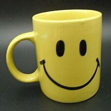Vintage Yellow Smiley Face Coffee Mug Cup