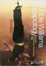 "ROBBIE WILLIAMS ""ESCAPOLOGY - INCLUDES #1 SINGLE, FEEL"" AUSTRALIAN PROMO POSTER"