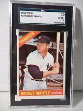 1966 Topps Mickey Mantle SGC Good+ 2.5 Baseball Card #50 MLB HOF Collectible