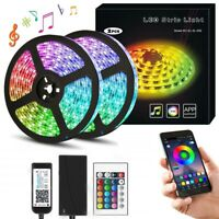 32ft 3528 RGB 600 LED Strip Light+Bluetooth APP Control+12V Power Kit Music Sync
