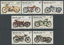 LAOS N°624/630** Motocyclettes, motos TB, 1985 Motorcycles SC#620-626 MNH