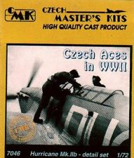 CMK 1/72 Hawker Hurricane Mk. IIb Detail Set Czech Aces in WWII for Revell 7046