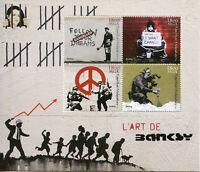Madagascar 2018 MNH Banksy 4v M/S Graffiti Urban Street Art Stamps