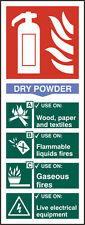 Fire Extinguisher Dry Power Rigid PVC Safety Sign