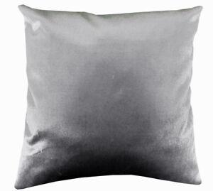 Mo92a Silver Gray Plain Shimmer Velvet Cushion Cover/Pillow Case Custom Size