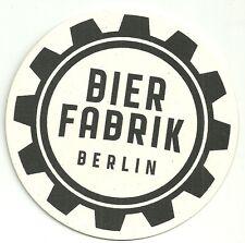 Bierfabrik Bierdeckel Brauerei Berlin Bier Werbung beer mat coaster Bierfilz neu
