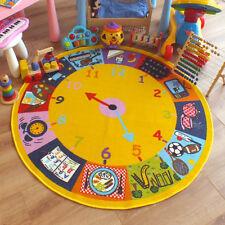 Superb Kids Childs Rug Clock Large Round 1.33m x 1.33m 4'4 x 4'4 approx
