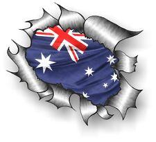 grande classico metallo LACERATO Rip AUSTRALIA flag adesivo in vinile per auto