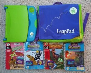 Leapfrog LeapPad Learning System 4 Books 4 Cartridges Backpack Scooby Dinosaurs