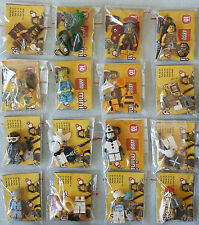 LEGO® 71001 Minifiguren Serie 10 Komplett Satz alle 16 Figuren  Neu & unbespielt