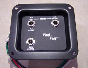 B- stock Stereo Mono Speaker Cab Jack Plate