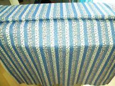 1 metretissus synthétique introuvable bleu blanc 150 larg idéal confection