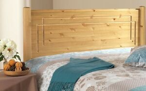 SOLID ANTIQUE PINE 4FT 6IN VEGAS HEADBOARD TO FIT A DIVAN BED ANY FURNITURE