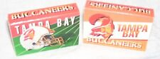 TAMPA BAY BUCS--2 BOXES OF MATCHES--NFL STRIPES