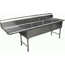 3 Compartment Sink With 1 Left 18 Drain Board Nsf