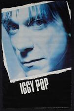 Rare Vintage 1990 Iggy Pop Poster Punk Rock Music Black White T4